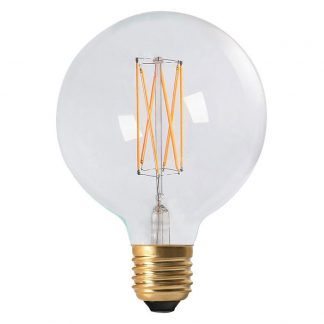 Elect LED Filament Glob 125mm Klar E27
