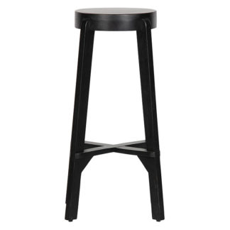 Inca barstool wood black
