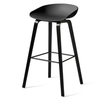 AAS 32 High Bar Stool Barstol black stained oak veneer