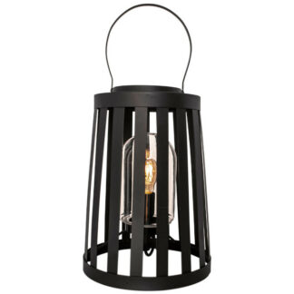 Delphia bords-/golvlampa IP44 sandsvart