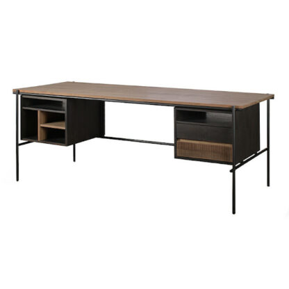 Teak Oscar desk with drawers